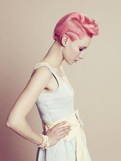 cotton candy hair, so cute!