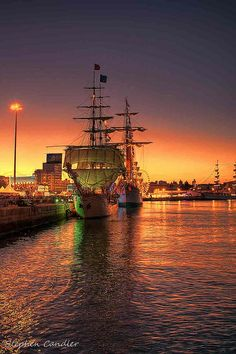 Tall Ships in the Port of Cadiz, Spain