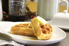 Fluffy Coconut Flour Waffles. These waffles are grain-free, nut-free, sugar-free and have a dairy-free option too. Don't be fooled... they are FULL of amazing flavor and will remind you of eating a restaurant-style Belgian Waffle!! They freeze great too, so double the batch and make some for later!