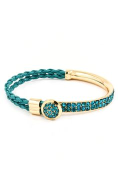 Teal Crystal Diamond Mia Bracelet #women #jewelry #bracelet #teal #fashion