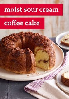 ... brown sugar and cinnamon streusel, this sour cream coffee cake recipe