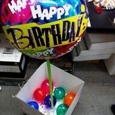 Birthday balloon-in-a-box