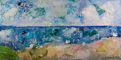 Seascape 24x48 mixed media Atelier Galleries  843-722-5668
