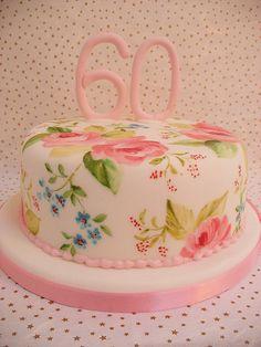 Painted 60th Birthday Cake by neviepiecakes 60Th Birthday, Birthday Parties, Anniversaries Cake, Painting 60Th, Parties Ideas, 19Th Birthday, Cake Art, Birthday Cake, Painting Cake