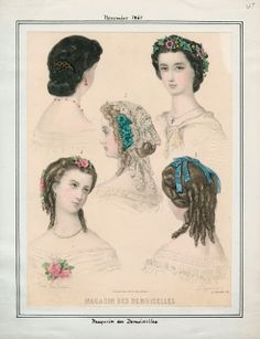 Magasin des Demoiselles, November 1861.  LAPL Visual Collections.