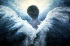 Guardian Angel Art Print, Ascending Angel, Signed by Marina Petro