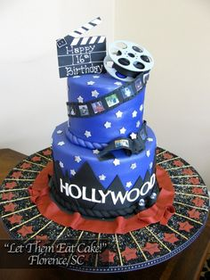 Hollywood cake for a birthday party