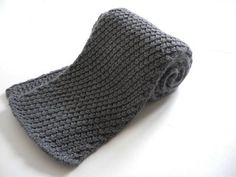 Knit basic scarves