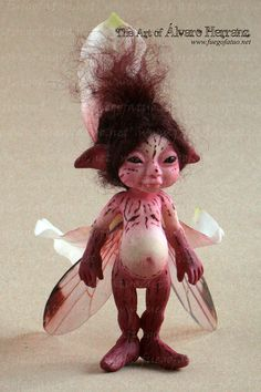 Orchid sprite - Resin casted ooak art doll faerie fairy pixie flower cymbidium orchid