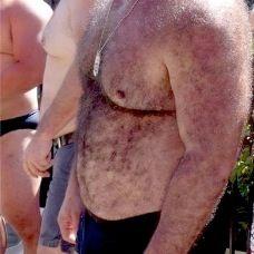 Hairy Bear Belly
