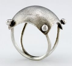 Pillow Ring: Sarah Mann: Silver Ring   Artful Home