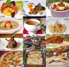Doce recetas con jamón