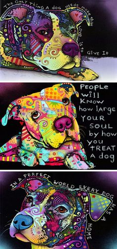 Pitbull Dog Wall Art //