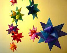 Folded paper stars.....