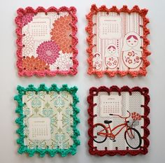 Crochet! Such a cool use - love it!