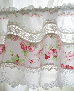 crochet, roses & white