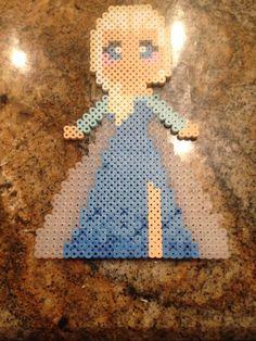 Queen Elsa From Disney's Frozen perler beads by KcranceArt
