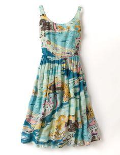 summer dresses, nanci dress, boden, vintage prints, breakfast, anthropologie, day dresses, beach, hat