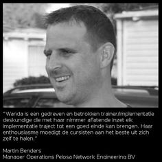 Recommendation Martin Benders | Manager Operations Pelosa Network Engineering BV