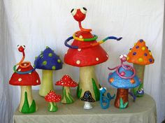 paper mache! Could do apples instead of mushrooms for September