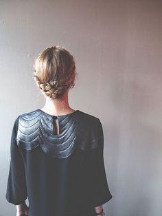 dress, braid, hairstyl