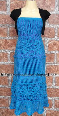 Marcinha crochet: Crochet LONG SKIRT OR DRESS strapless crochet