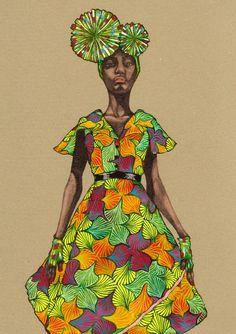 Africa Fashion Guide - Natsuki Otani Illustration