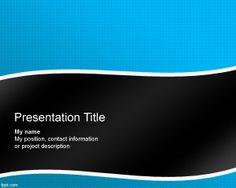 Free download PowerPoint Template (blue-black color background)