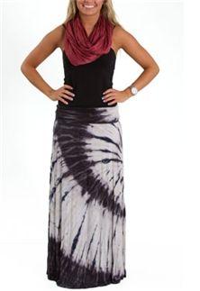 Nice Neutrals Tie Dye Maxi Skirt