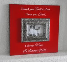 Ready to ship Red Valentines day photo frame by Frameyourstory, $75.00