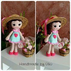 """Handmade by Ülkü: Amigurumi Puppe """"Deniz"""" mit neuem Outfit :)"""