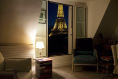 The view from the apartment of Muriel Schneider in Paris's 7th arrondissement. March 20, 2014 Lauren Fleishman for TIME