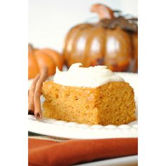 Pumpkin Bars with Cream Cheese Frosting via How-To: Simplify #Pumpkin #Recipes
