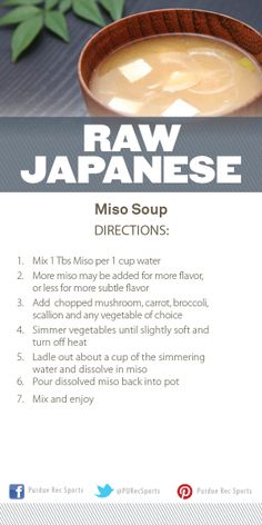 Raw Japanese Miso Soup Cooking Demo @Purdue Rec Sports