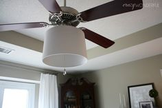 Crazy Wonderful: adding a drum shade to a ceiling fan