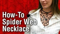 How-To Spider Web Necklace