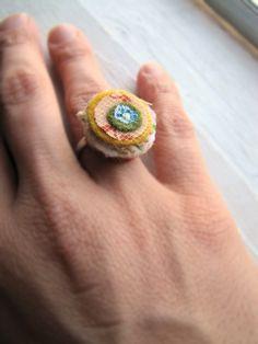layered fabric ring. love it! Nx