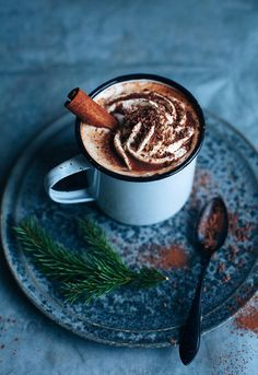 ... hot chocolate with cinnamon and orange liqueur ...