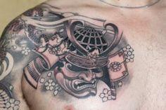 Chest samurai by Bill Canales #InkedMagazine #samurai #chest #tattoo #tattoos #Inked #japanese #asian #ink