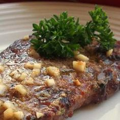 Sirloin Steak With Garlic Butter...this recipe got awesome reviews!! Allrecipes.com.
