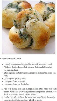 Easy Parmesan Knots