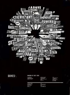 Typographic poster of lyrics.