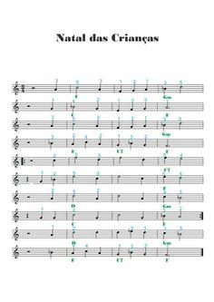 Adriano Dozol - Dicas, Partituras Grátis e Vídeos - Teclado | Piano: Natal das Crianças - Simone - Partitura para Teclado (uso didático, sem...