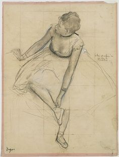 Degas drawing of a dancer