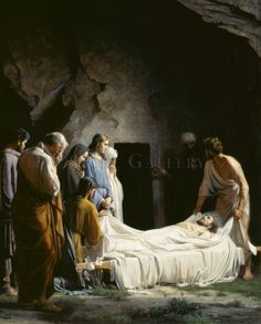 Carl Bloch: The Entombment of Christ