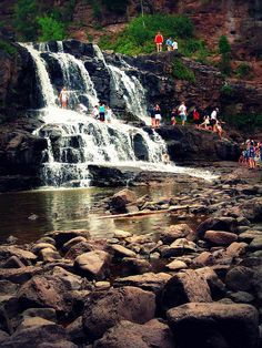 gooseberry falls along the north shore, minnesota