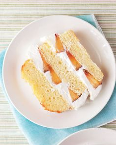 Pound Cake with Peaches and Cream