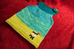 This is called the Emma Tunic...perfect for Emma and her Baby Sister!! yes..this will go on the needles next!!