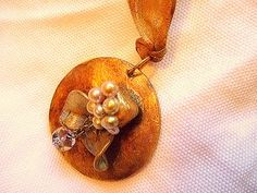 Golden Fruit Necklace for Women w/ Freshwater pearls by MereTrinkets, $30.00