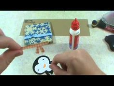 Penguin card using Winter Frolic and Create a Critter